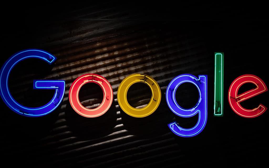 Google in neon lights