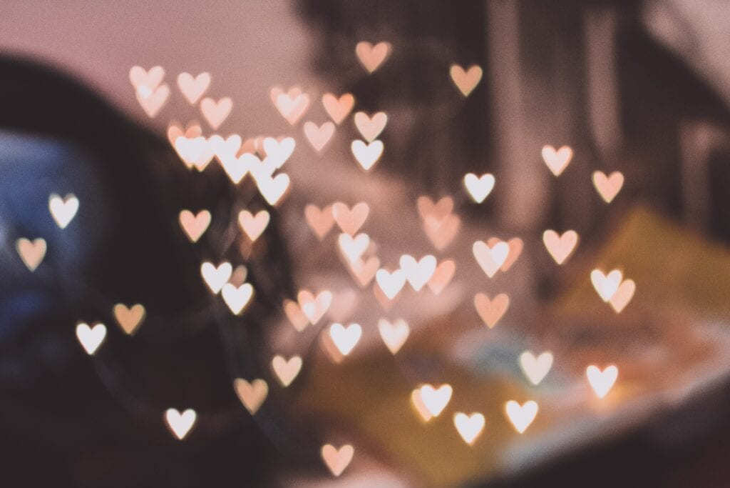 Little hearts floating