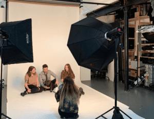 Behind the scenes team