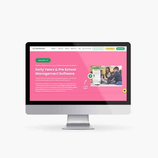 TeachKloud Website on Mac